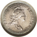 Patterns: , 1869 10C Standard Silver Ten Cents, Judd-696, Pollock-775, R.5, PR50 ANACS. Liberty is adorned with three large stars, and ...