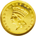 """Proof Gold Dollars: , 1885 G$1 PR63 NGC. In his book United States Gold Coins: An Analysis of Auction Records, David Akers states: """"The proof..."""
