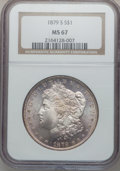 Morgan Dollars: , 1879-S $1 MS67 NGC. NGC Census: (1953/140). PCGS Population(1259/82). Mintage: 9,110,000. Numismedia Wsl. Price for proble...