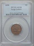 Flying Eagle Cents: , 1858 1C Large Letters AU58 PCGS. PCGS Population (96/1310). NGCCensus: (6/166). Mintage: 24,600,000. Numismedia Wsl. Price...
