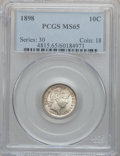 Barber Dimes: , 1898 10C MS65 PCGS. PCGS Population (68/40). NGC Census: (66/27).Mintage: 16,320,735. Numismedia Wsl. Price for problem fr...