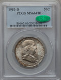 Franklin Half Dollars: , 1953-D 50C MS66 Full Bell Lines PCGS. CAC. PCGS Population (96/1).NGC Census: (14/1). Numismedia Wsl. Price for problem f...