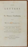 Books:Biography & Memoir, Thomas Fitzosborne [William Melmouth]. The Letters of Sir ThomasFitzosborne, on Several Subjects. Dodsley, 1784...