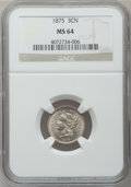 Three Cent Nickels: , 1875 3CN MS64 NGC. NGC Census: (102/62). PCGS Population (63/47).Mintage: 227,300. Numismedia Wsl. Price for problem free ...