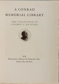 Books:Books about Books, [Books About Books]. Joseph Conrad [subject]. A Conrad Memorial Library: The Collection of George T. Keating. Do...