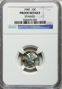 1940 10C -- Stained -- NGC Details. Proof. NGC Census: (0/2076). PCGS Population (3/2985). Mintage: 11,827. Numismedia W...