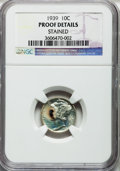 Proof Mercury Dimes: , 1939 10C -- Stained -- NGC Details. Proof. NGC Census: (0/1820).PCGS Population (1/2635). Mintage: 9,321. Numismedia Wsl. ...