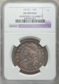 Bust Half Dollars: , 1818/7 50C Small 8 -- Improperly Cleaned -- NGC Details. AU. NGCCensus: (23/137). PCGS Population (14/57). Numismedia Wsl...