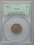 Indian Cents: , 1872 1C AU58 PCGS. PCGS Population (0/382). NGC Census: (1/233).Mintage: 4,042,000. . From The Malibou Lake Collection....