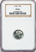1936 10C PR63 NGC. NGC Census: (68/941). PCGS Population (140/1228). Mintage: 4,130. Numismedia Wsl. Price for problem f...