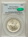 Commemorative Silver: , 1925 50C Stone Mountain MS66 PCGS. CAC. PCGS Population (761/168).NGC Census: (650/138). Mintage: 1,314,709. Numismedia Ws...