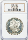 Morgan Dollars: , 1889-S $1 MS62 Deep Mirror Prooflike NGC. NGC Census: (9/32). PCGSPopulation (14/41). Numismedia Wsl. Price for problem f...