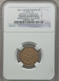 Civil War Merchants, 1861 Foster & Metcalf, Grand Rapids, MI -- Improperly Cleaned-- NGC Details. AU. Fuld-MI370C-2b. Incorrectly attributed by NG...