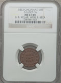 Civil War Merchants, 1863 H.B. Xelar, Wine & Beer, Cincinnati, OH, MS61 Brown NGC.Fuld-OH165GT-3a....