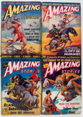 Pulps:Science Fiction, Amazing Stories - John Carter of Mars Group (Ziff-Davis, 1941-43)Condition: Average VG.... (Total: 6 Comic Books)