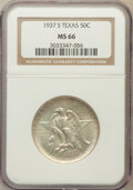 Commemorative Silver: , 1937-S 50C Texas MS66 NGC. NGC Census: (451/100). PCGS Population(451/86). Mintage: 6,637. Numismedia Wsl. Price for probl...