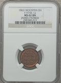 Civil War Merchants, 1863 James Patrick, Wooster, OH, MS62 Brown NGC. Fuld-OH975K-1a....