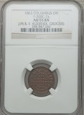 Civil War Merchants, 1863 J.M & V. Koerner, Grocers, Columbus, OH, AU55 NGC.Fuld-OH200C-7a....