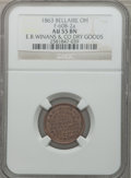 Civil War Merchants, 1863 E.B. Winans & Co. Dry Goods, Bellaire, OH, AU55 NGC.Fuld-OH60D-2a. Incorrectly attributed by NGC as Fuld-OH60B-2a....