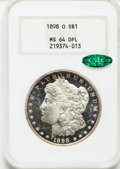 Morgan Dollars: , 1898-O $1 MS64 Deep Mirror Prooflike NGC. CAC. NGC Census:(174/78). PCGS Population (304/195). Numismedia Wsl. Price for ...