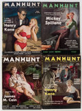 Pulps:Detective, Manhunt and Other Detective Pulps Group of 19 (Various Publishers,1945-56) Condition: Average VG/FN.... (Total: 19 Items)