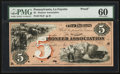 Obsoletes By State:Indiana, Lafayette, IN- Pioneer Association $5 Wolka 359-3 Proof. ...