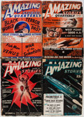 Pulps:Science Fiction, Amazing Stories Quarterly Group (Radio-Science Publications,1940-48) Condition: Average VG.... (Total: 5 Comic Books)
