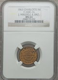 Civil War Merchants, 1863 J. Mikesell & Bro., Charlotte, MI, MS63 NGC.Fuld-MI160C-1b....