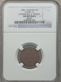 Civil War Merchants, 1861 Lawrence & Noble, Goshen, IN -- Bent -- NGC Details. AU.Fuld-IN350F-1a. ...