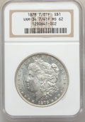Morgan Dollars: , 1878 7/8TF $1 Strong MS62 NGC. VAM-34. 7/4TF. NGC Census:(886/2624). PCGS Population (1156/4070). Mintage: 544,000. Numis...
