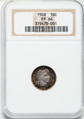 Proof Barber Dimes: , 1908 10C PR64 NGC. NGC Census: (50/85). PCGS Population (46/46).Mintage: 545. Numismedia Wsl. Price for problem free NGC/P...