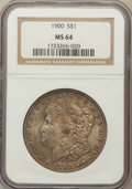 Morgan Dollars: , 1900 $1 MS64 NGC. NGC Census: (13489/4899). PCGS Population(13102/4085). Mintage: 8,830,912. Numismedia Wsl. Price for pro...