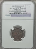 Civil War Merchants, 1863 William Bro's, Druggist, Columbus, WI -- Environmental Damage-- NGC Details. VF. Fuld-WI120D-3a. ...