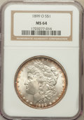 Morgan Dollars: , 1899-O $1 MS64 NGC. NGC Census: (23144/8595). PCGS Population(20998/8478). Mintage: 12,290,000. Numismedia Wsl. Price for ...