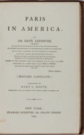 Books:Americana & American History, Rene Lefebvre. Paris in America. New York: Scribner, 1863.First American edition. Publisher's binding. Spine su...