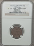 Civil War Merchants, 1862 E. & L. Small, Dry Goods, Hagerstown, IN, AU58 NGC.Fuld-IN370A-1a....