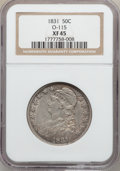 Bust Half Dollars: , 1831 50C XF45 NGC. O-115. NGC Census: (126/1205). PCGS Population(212/1214). Mintage: 5,873,660. Numismedia Wsl. Price fo...