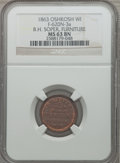Civil War Merchants, 1863 B.H. Soper, Furniture, Oshkosh, WI, MS63 Brown NGC.Fuld-WI620N-3a....