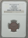 Civil War Merchants, 1863 ML Marshall, Oswego, NY, MS63 Brown NGC. Fuld-NY695A-2a....