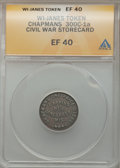 Civil War Merchants, (1861-65) Chapmans One Price Store, Janesville, WI XF40 ANACS.Fuld-WI300C-1a....