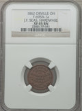 Civil War Merchants, 1862 J.F. Seas, Hardware, Orville, OH, XF45 NGC. Fuld-OH695A-1a....