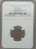 Civil War Merchants, 1862 A.B. Wilson Grocer, Cincinnati, OH, MS62 Brown NGC.Fuld-OH165GL-1a1....