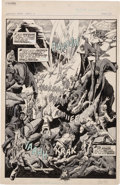 Original Comic Art:Splash Pages, Dino Castrillo Planet of the Apes #26 Splash page 15Original Art (Marvel, 1976)....