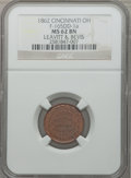 Civil War Merchants, 1862 Leavitt & Bevis, Cincinnati, OH, MS62 Brown NGC.Fuld-OH165DD-1a....
