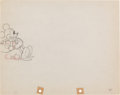 Animation Art:Production Drawing, Mickey Mouse The Worm Turns Animation Production DrawingOriginal Art (Disney, 1937)....