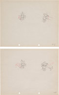 Animation Art:Production Drawing, Mickey Mouse and Minnie Mouse Production Drawing AnimationArt Group (Walt Disney, 1930s).... (Total: 2 Original Art)