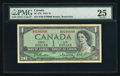 Canadian Currency: , BC-37b $1 1954 Modified Portrait with Serial Number 0100000. ...