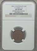 Civil War Merchants, 1862 John Galvagni, Cincinnati, OH., AU58 NGC. Fuld-OH165BA-1a....
