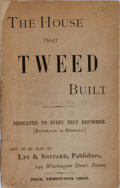 Books:Americana & American History, [Tammany Hall]. The House That Tweed Built. Boston: Lee& Shepard, [1871]. First edition of this pamphlet, lamba...