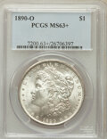 Morgan Dollars, 1890-O $1 MS63+ PCGS. PCGS Population (3937/3771). NGC Census:(3314/2919). Mintage: 10,701,000. Numismedia Wsl. Price for ...